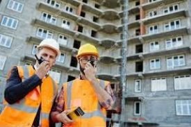 Construction Men with Radios